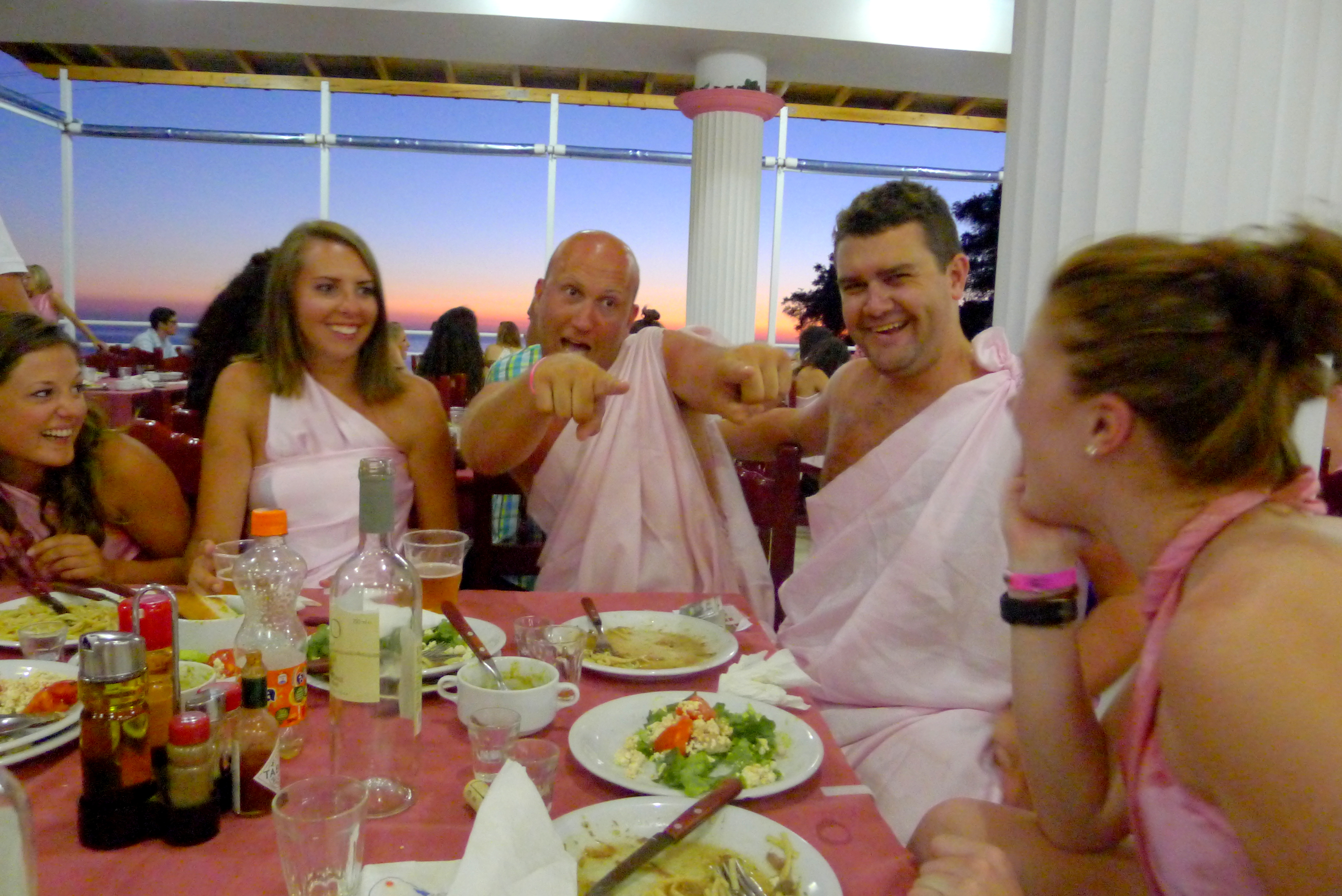 The Pink Palace in Corfu