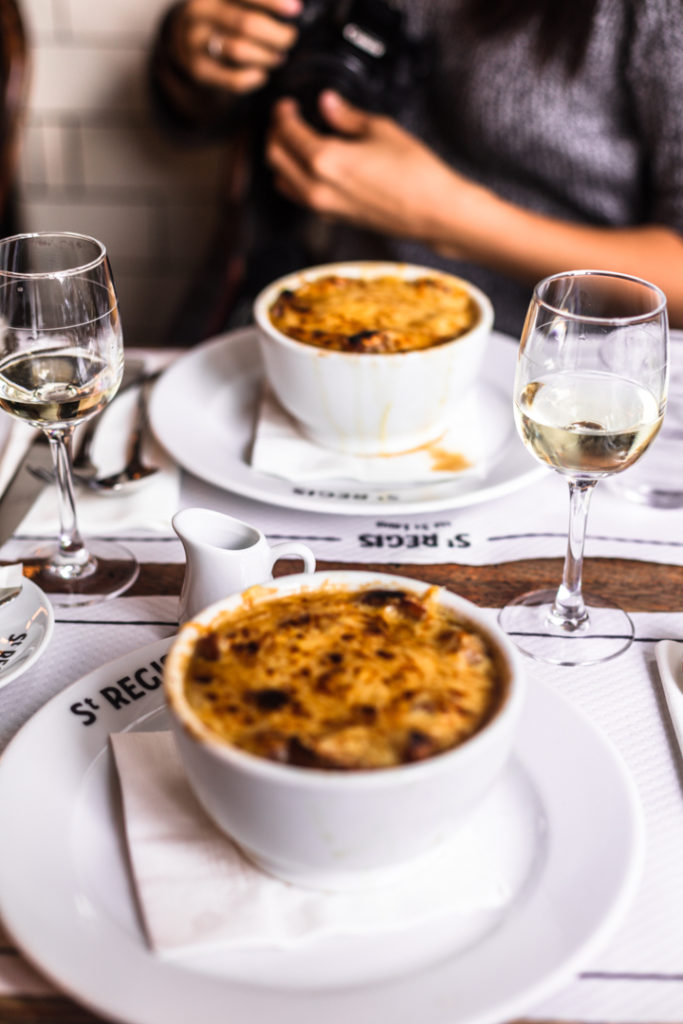 French onion soup in Paris
