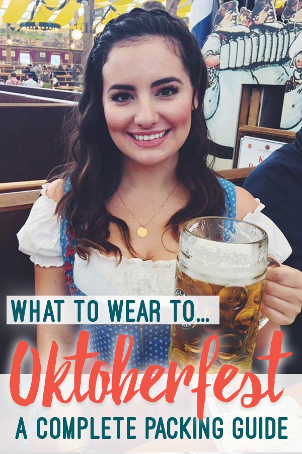 The COMPLETE Oktoberfest packing guide: What to wear to Oktoberfest, how to buy a dirndl, and more.