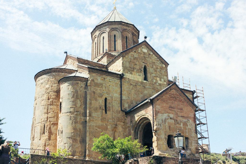 Metheki Church in Tbilisi, Georgia