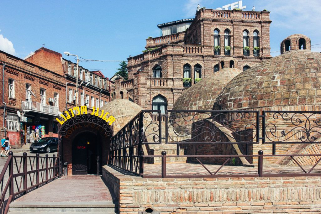 The sulfur baths in Tbilisi