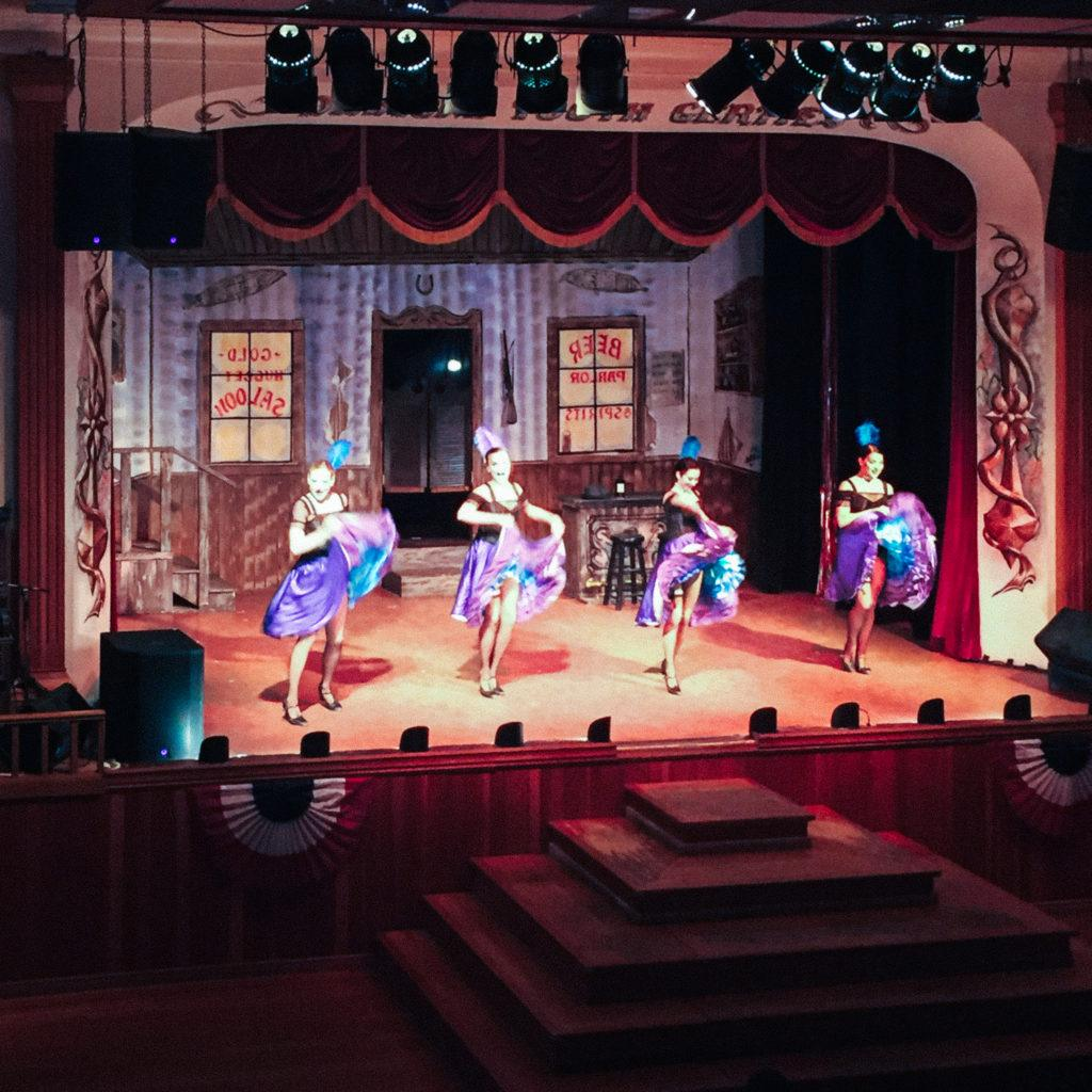 A cancan show in Dawson City, Canada
