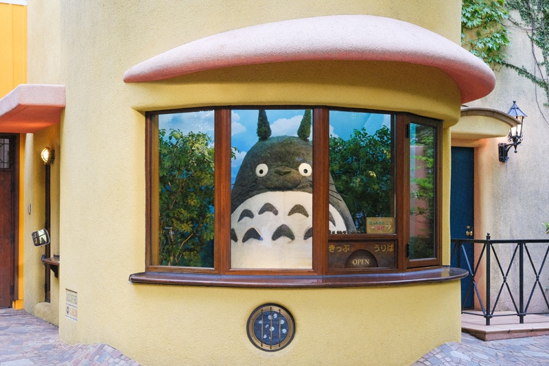 Totoro at the Ghibli Museum