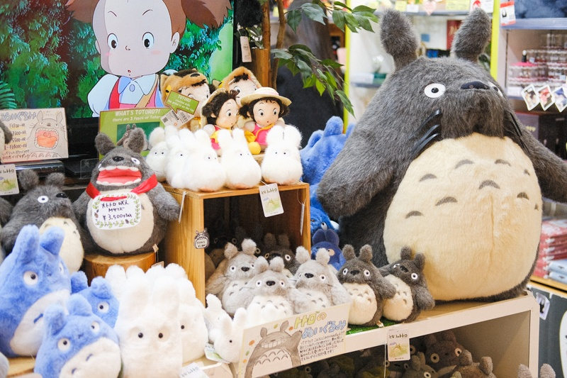 Studio Ghibli merchandise at Kiddyland