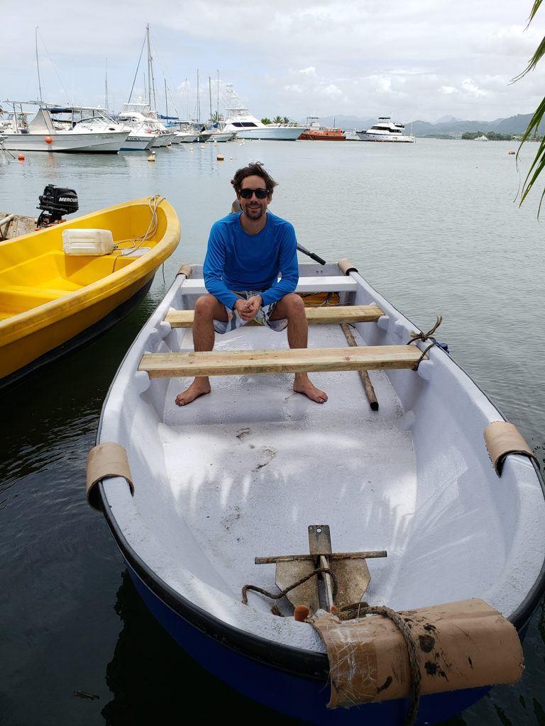 A small boat in Fiji
